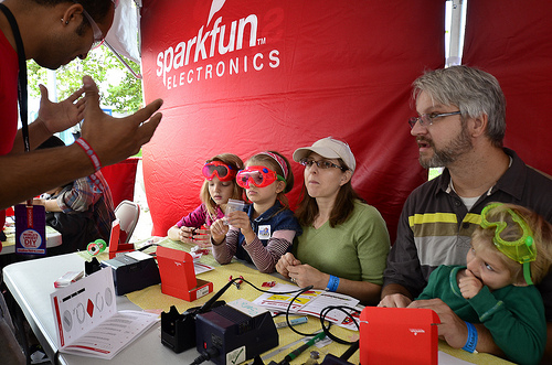 SparkFun teaching soldering