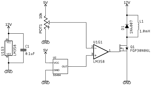 Schematic of Comparator Circuit With Inductor
