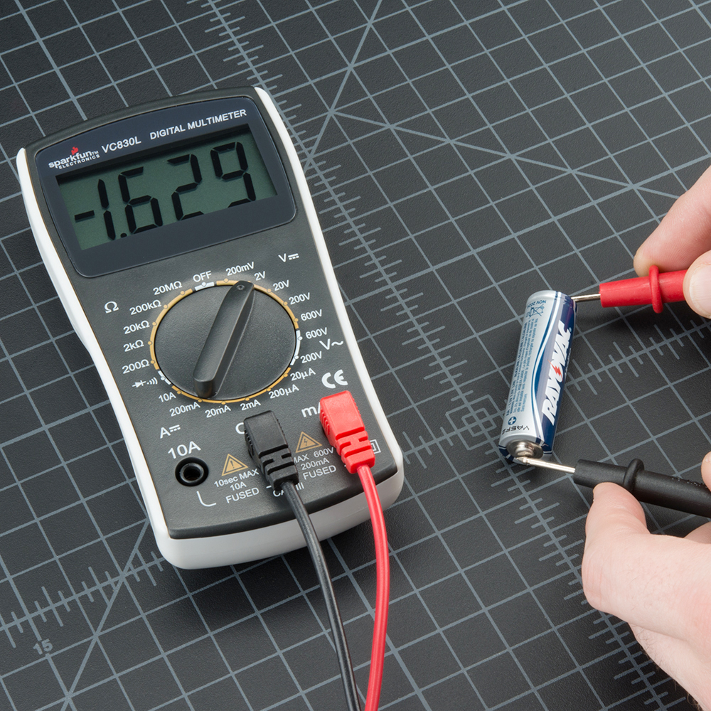 Using A Multimeter For Dummies Wiring Diagrams Airsuperiority Weekly Digital Timer Circuit How To Use Learn Sparkfun Com Rh Continuity Measuring