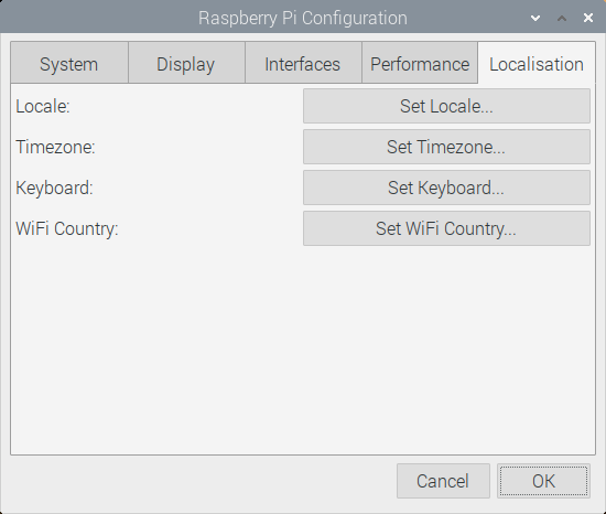Raspberry Pi Configuration Region