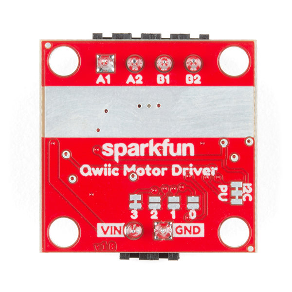 Image of the bottom of the Qwiic Motor Driver