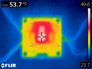 Thermal Image of a PCB Heatsink