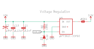 Schematic of the voltage regulation circuit