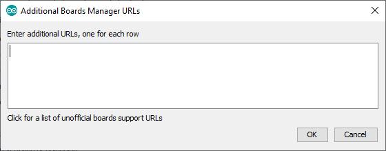 Additional Board Manager URLs window