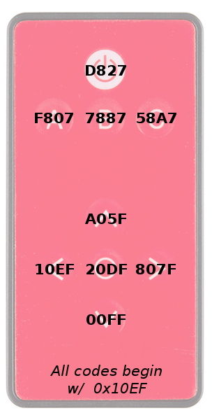 Hex Codes for COM-11759