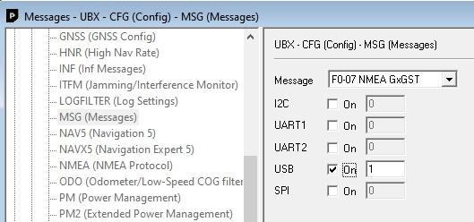 Enable GxGST message for USB