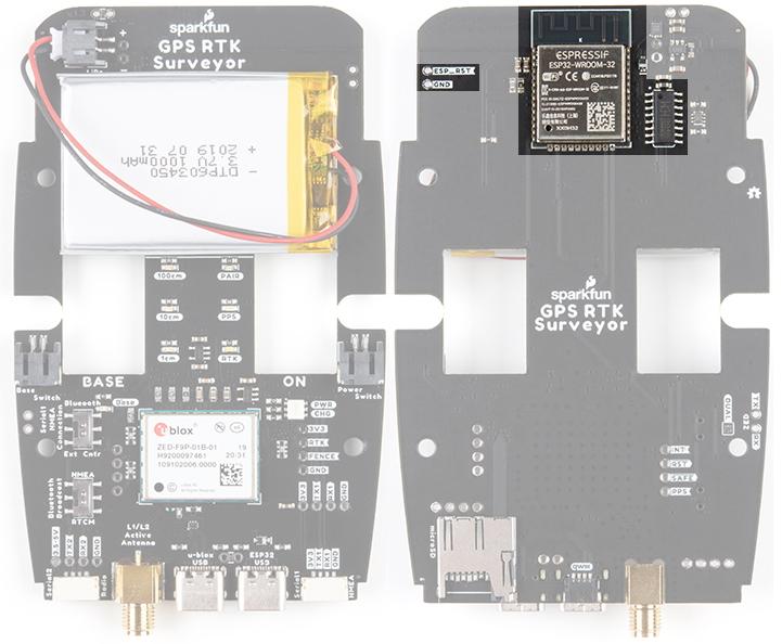 ESP32 on SparkFun RTK Surveyor