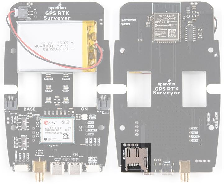 microSD socket on SparkFun RTK Surveyor
