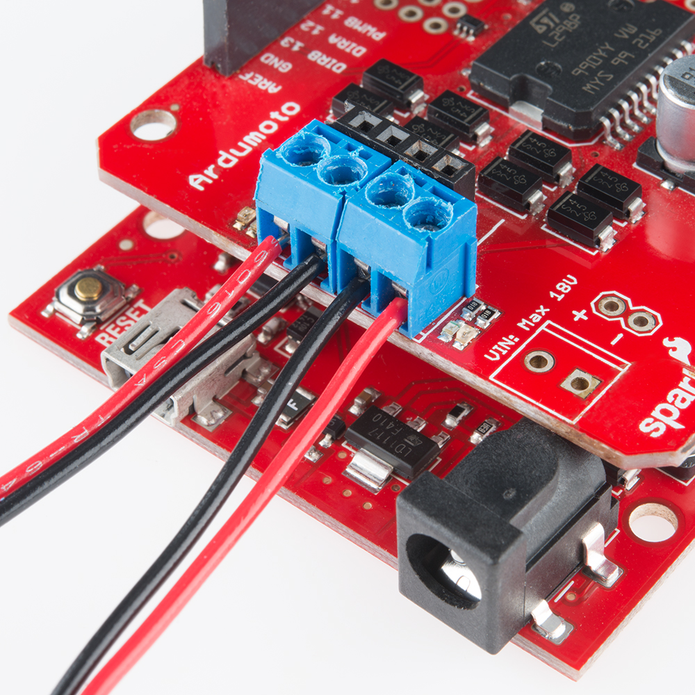 Ardumoto shield kit hookup guide learn sparkfun