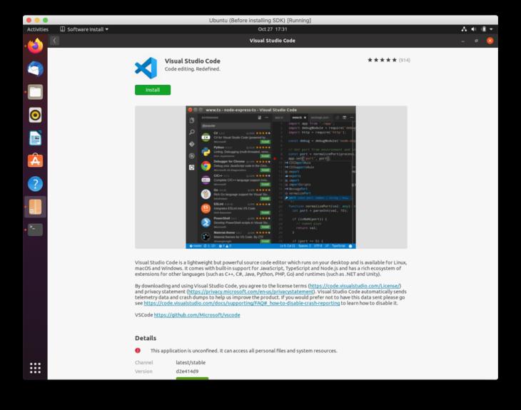 Linux VSC install