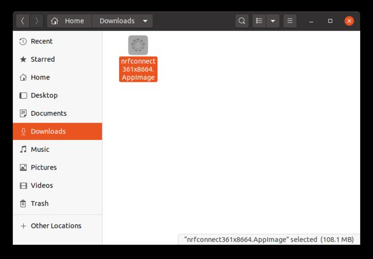 nRF Desktop AppImage
