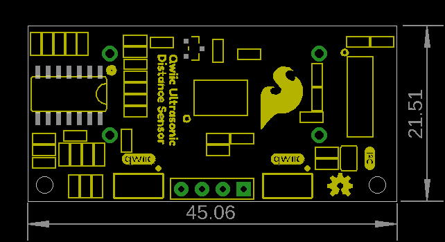 Board measures 45.06mm by 21.51mm