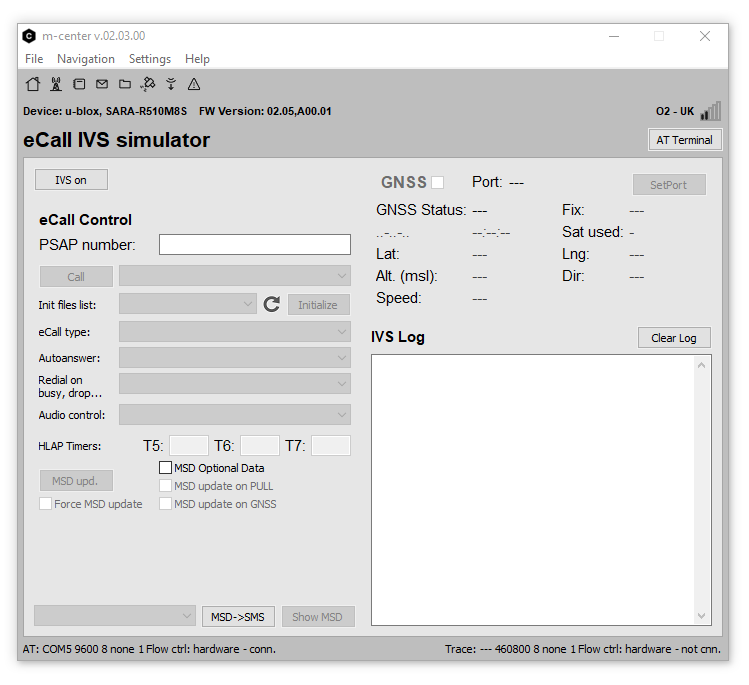 m-center eCall Simulator
