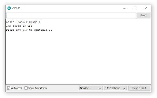 Screenshot showing Arduino Serial Monitor open