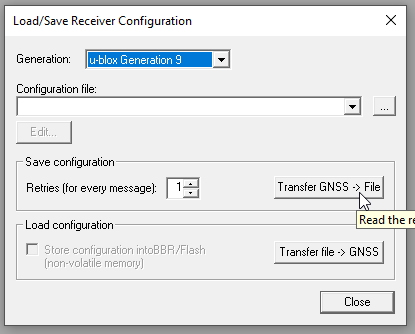 Receiver configuration tool