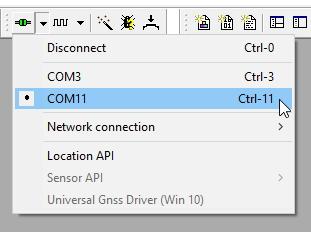 COM power menu list