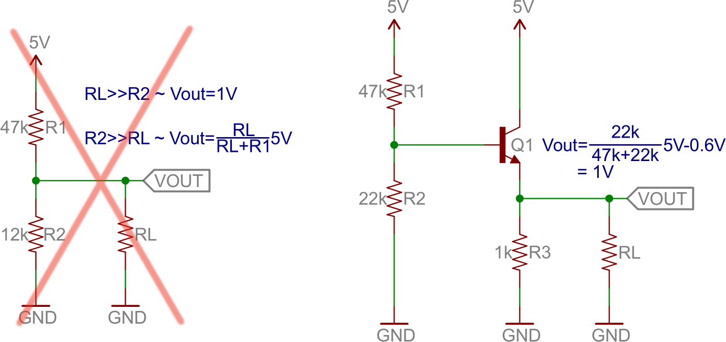 Transistors Logic Circuit Example Common Collector 1v Out