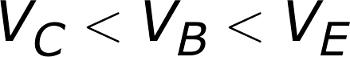 V_{C} < V_{B} < V_{E}
