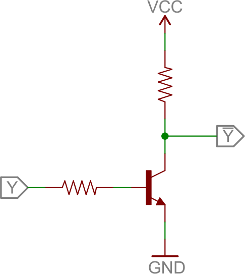 logic inverter circuit transistors learn sparkfun com transistor wiring diagram at fashall.co