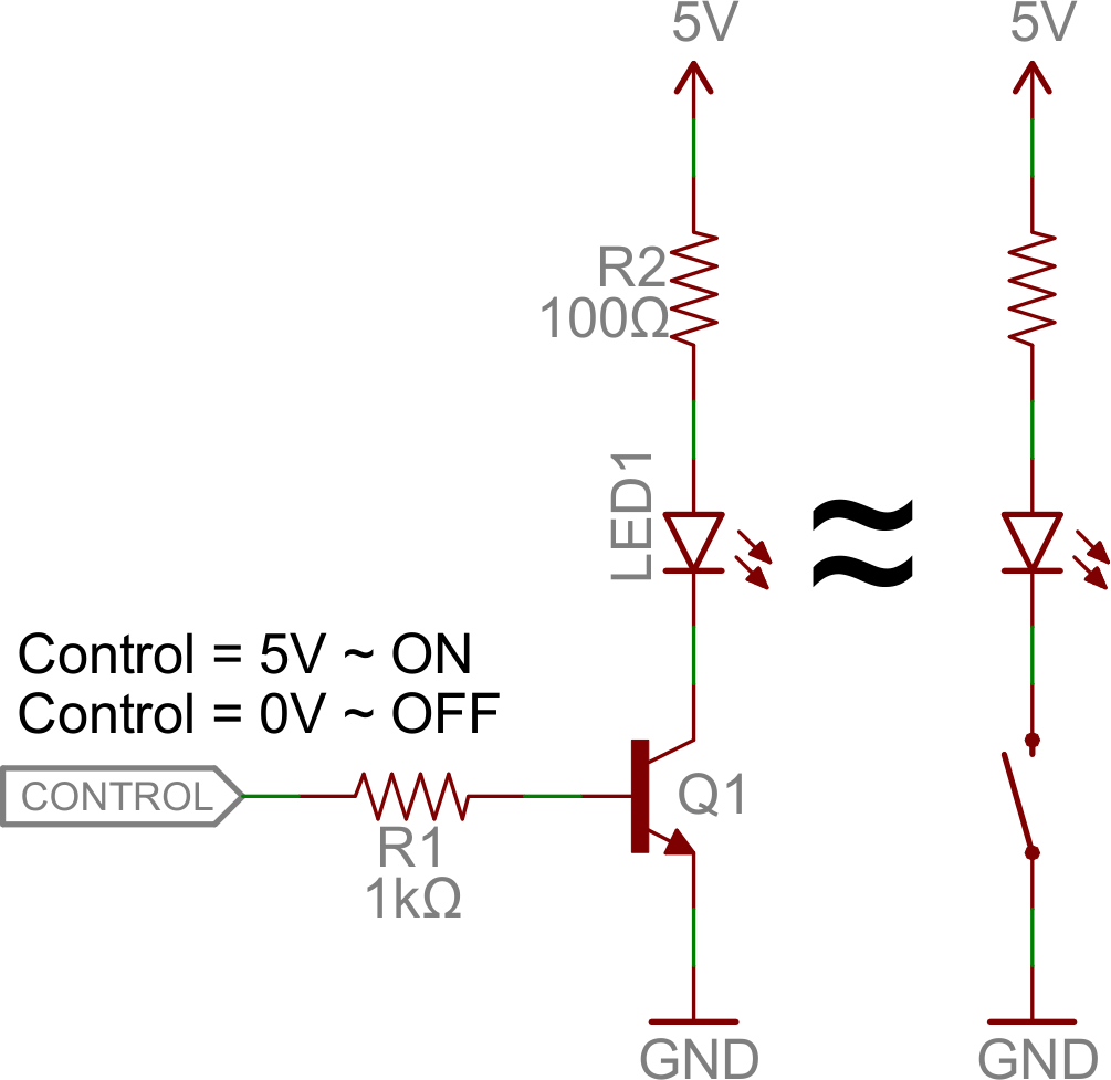 How To Make A Led Circuit Pdf Version Transistors Npn Switch Control An