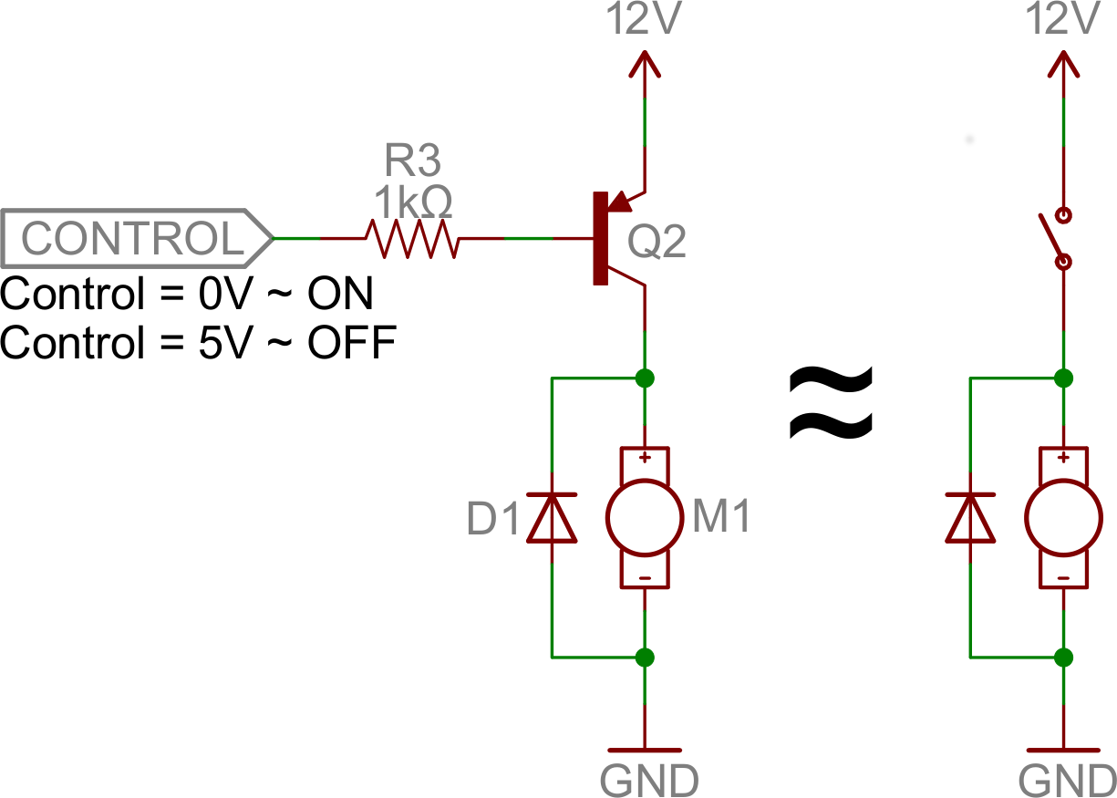 Transistors Understand Dc Circuit Operation Pnp Switch Example