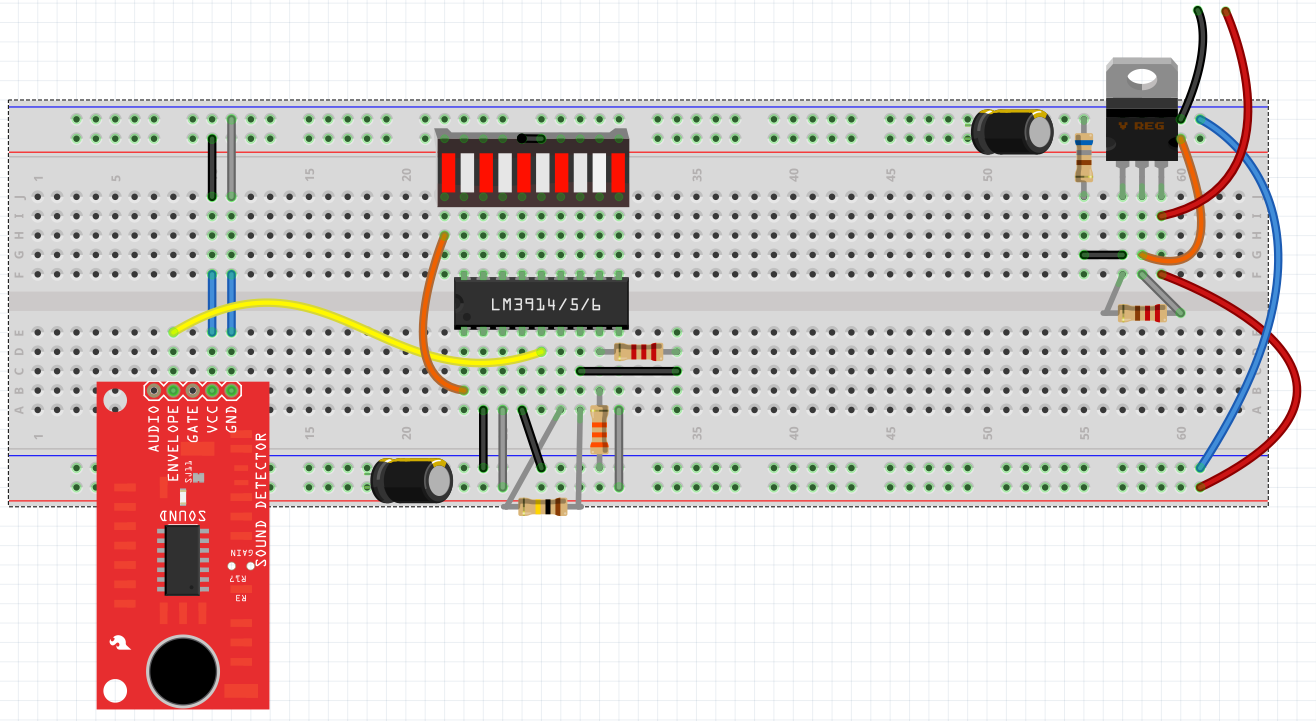 Sound Detector Hookup Guide Op Amp How To Cut Power Off When A Certain Voltage From Sensor Is Fritzing Breadboard