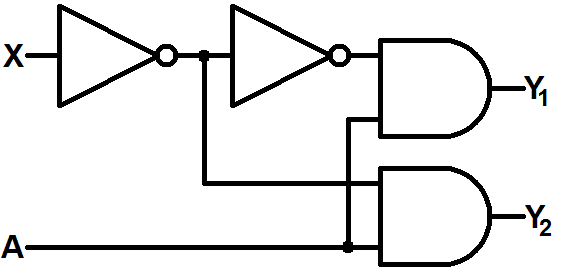 2-to-1 demux schematic
