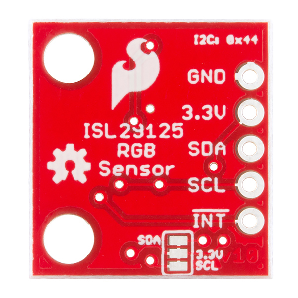Bottom of the ISL29125 Breakout Board
