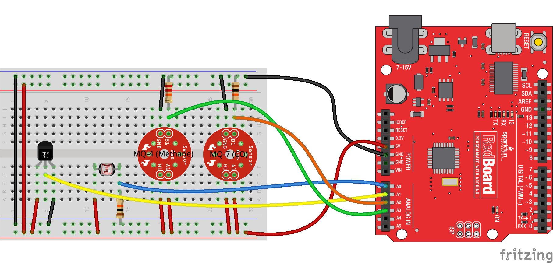 Internet Datalogging With Arduino And Xbee Wifi Mq 6 Circuit Diagram Sensors Connect