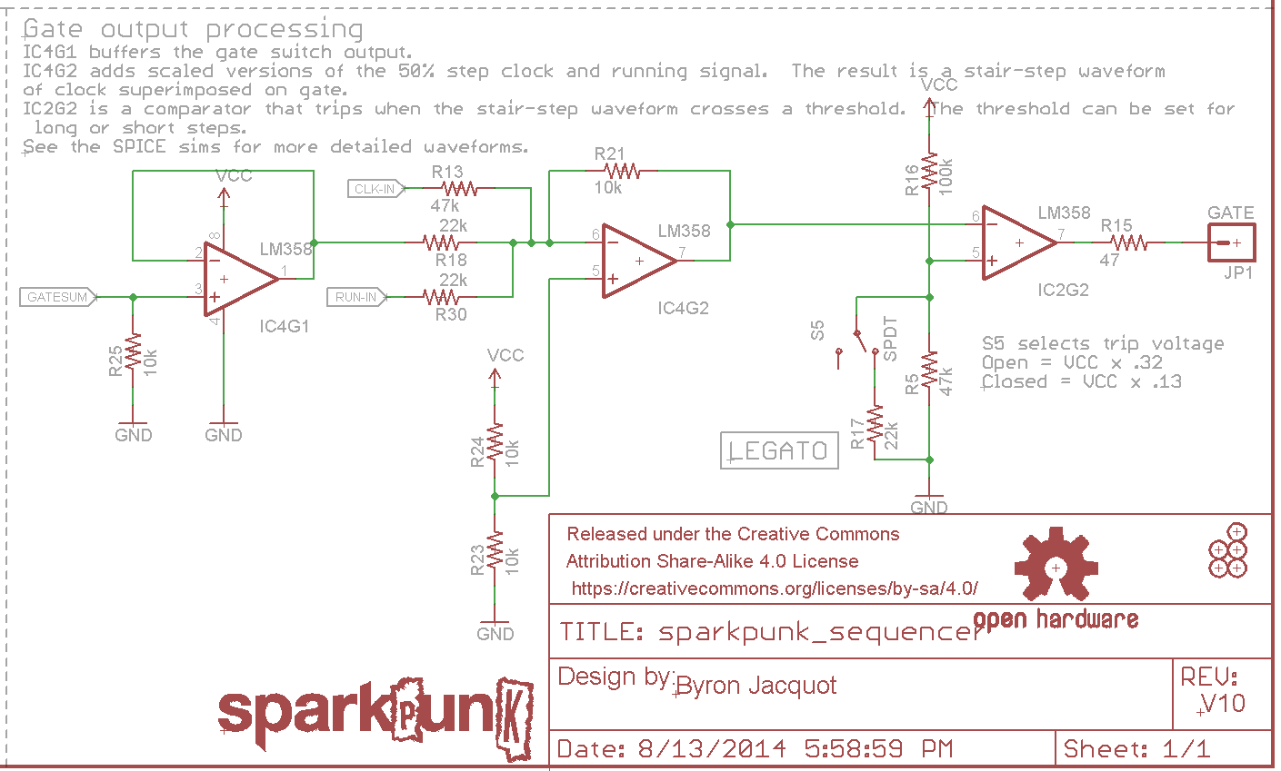 Sparkpunk Sequencer Theory And Applications Guide Charge Sensitive Amplifier Circuit Gate