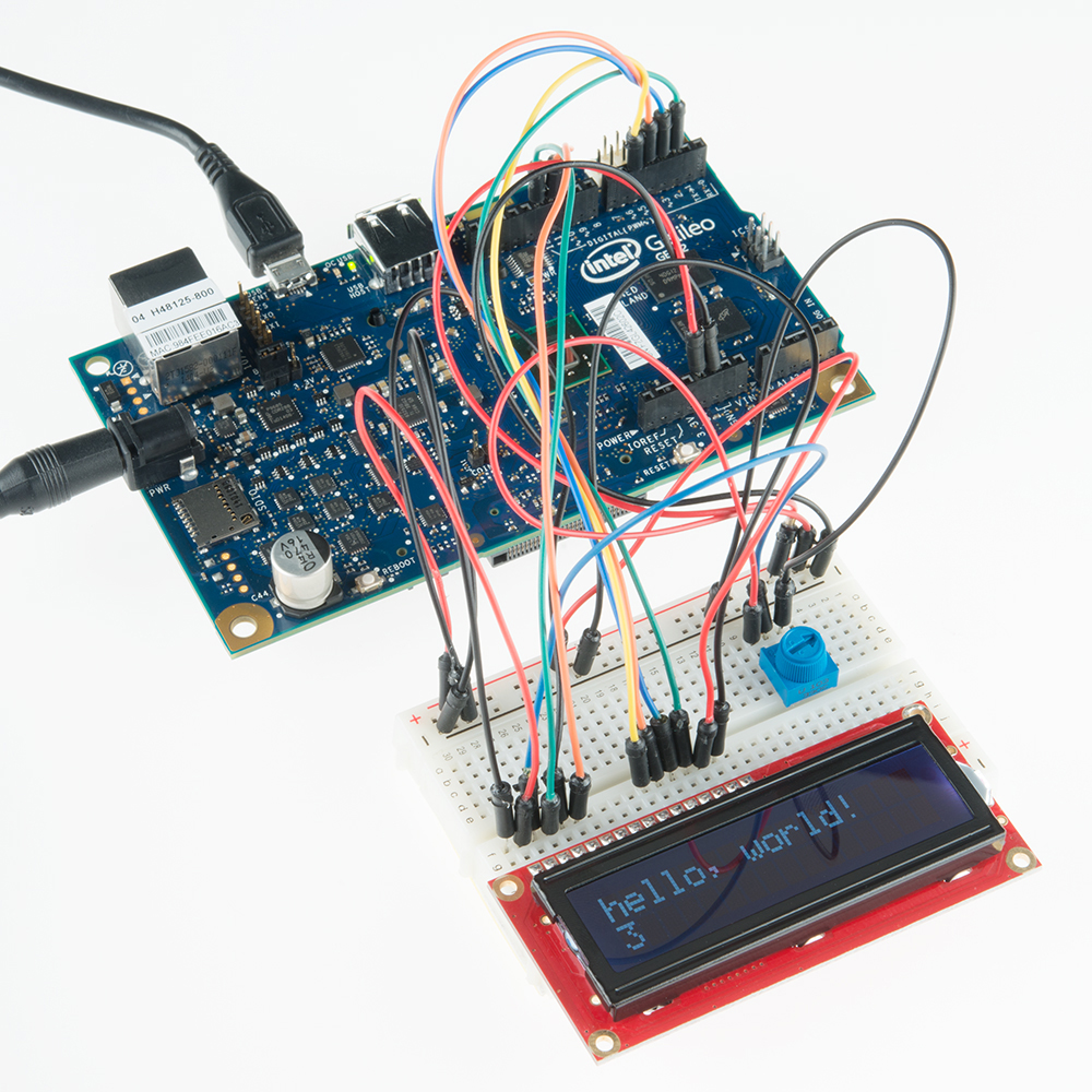 Galileo Experiment Guide Is A Simple Flashing Led Circuit Operating On The Arduino Breadboard Board Software Compatible With Development Environment Which Makes Getting Started Snap From Building