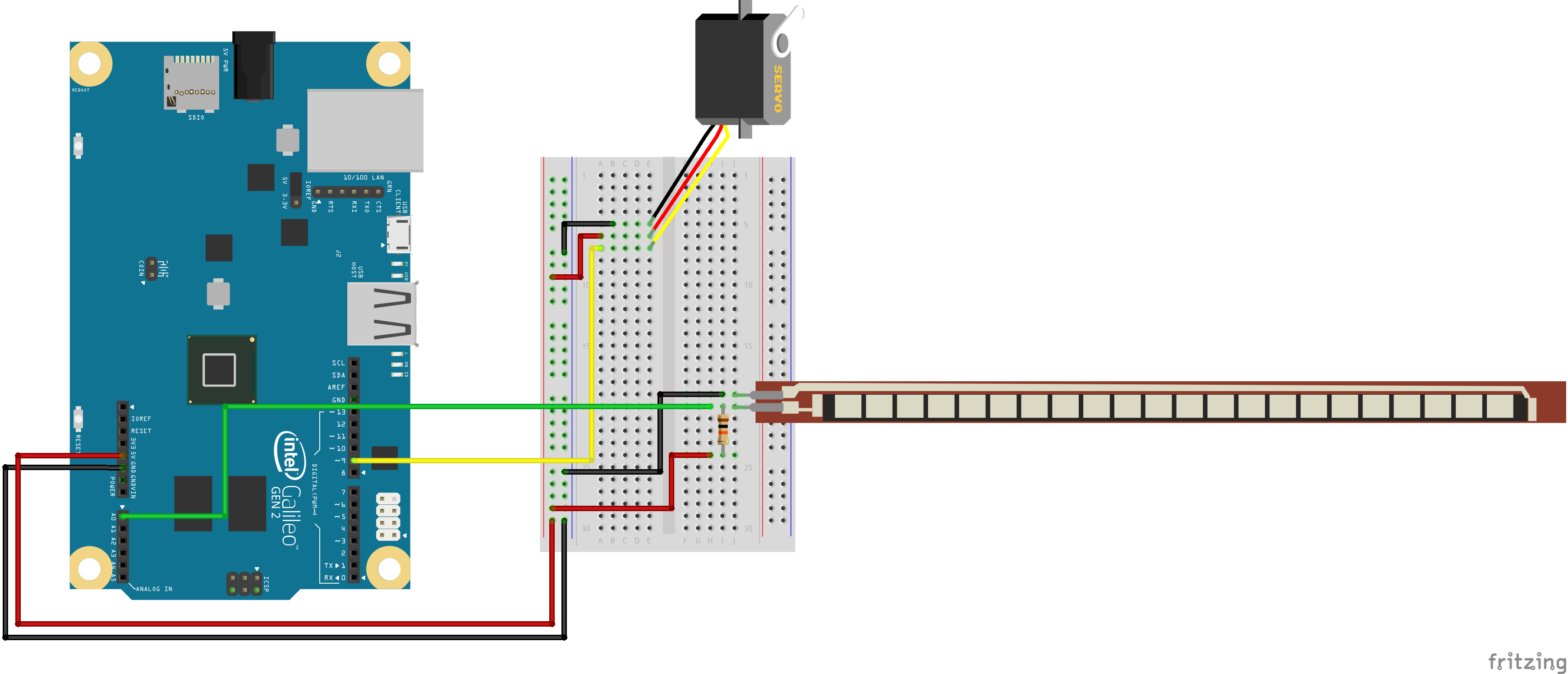 Galileo Experiment Guide 6 Leds In A Series Circuit Ii Fritzing Flex Sensor