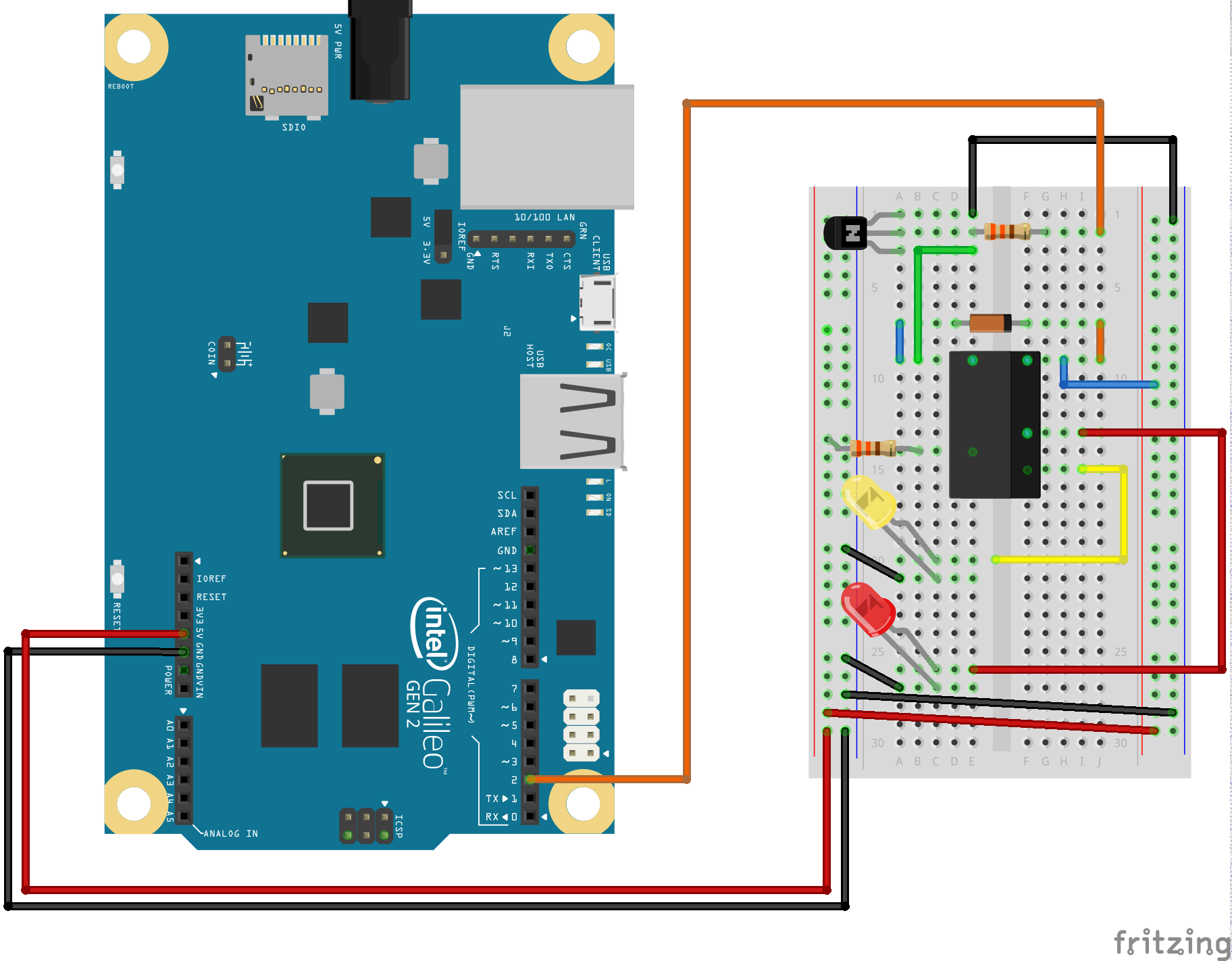Galileo Experiment Guide How To Build Single Transistor Relay Toggle Circuit Fritzing