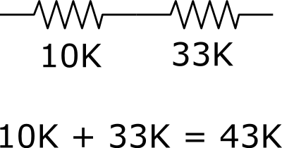Making a 43K Resistor