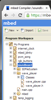 mbed soundboard libraries