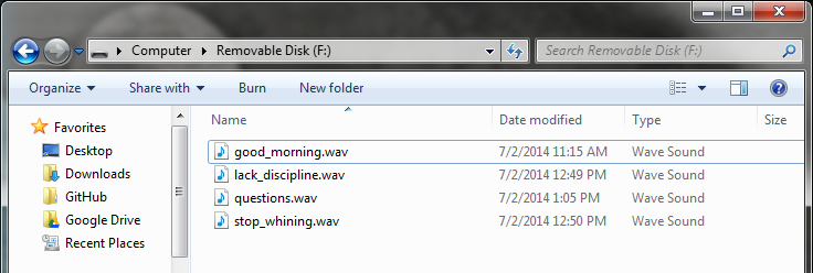 Wave files on SD card