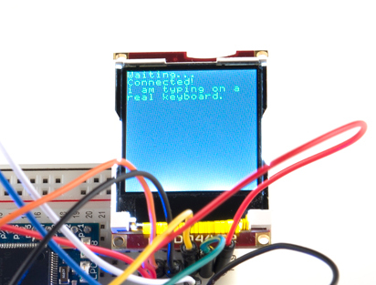 mbed running keyboard demo on LCD