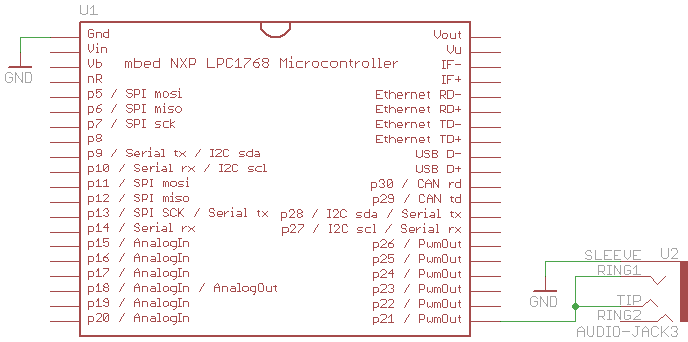 mbed pwm music schematic