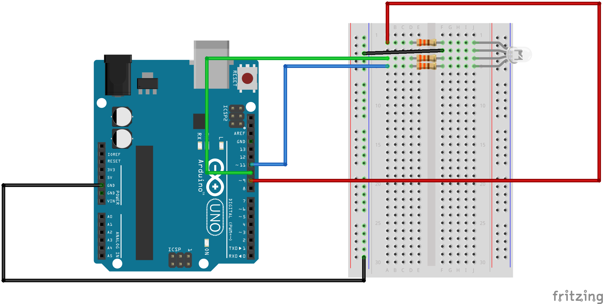 Sik Experiment Guide For Arduino V32 Current Flows Through Them Heres An Example Circuit With Three Alt Text