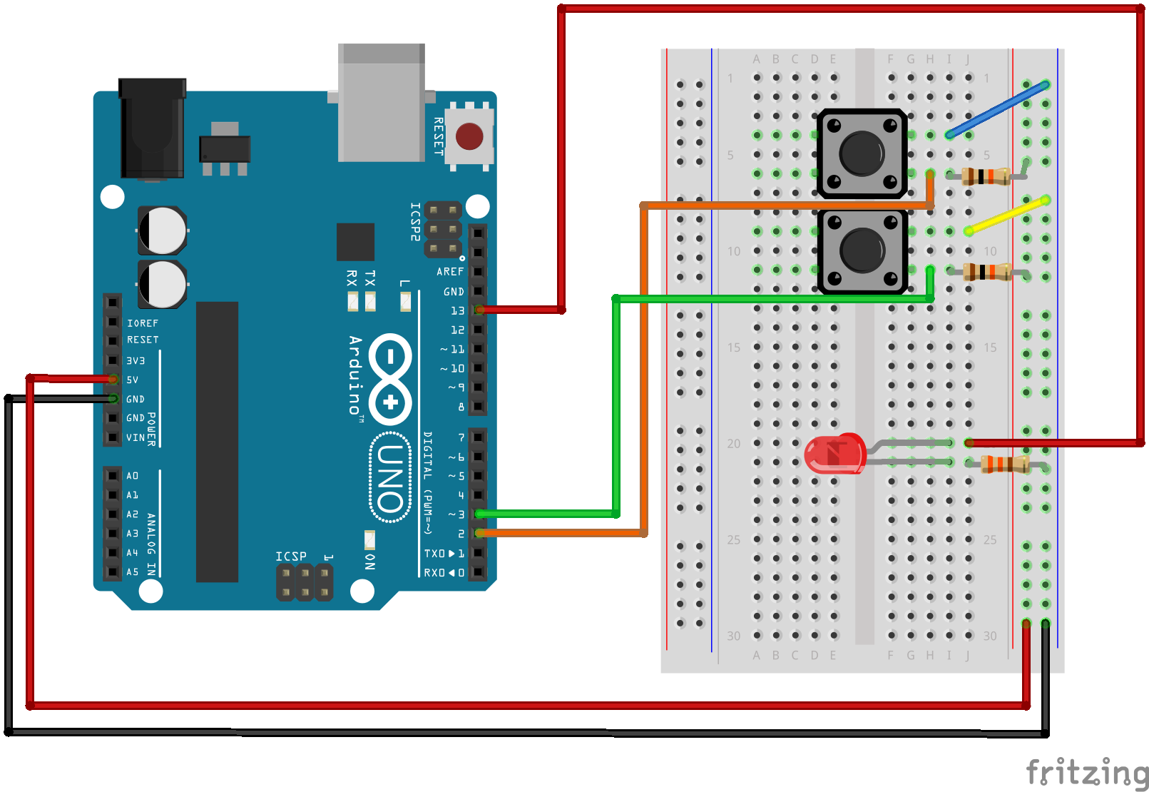 Sik Experiment Guide For Arduino V32 Likewise Led Driver Circuit Diagram Besides White Having A Hard Time Seeing The Click On Fritzing To See Bigger Image