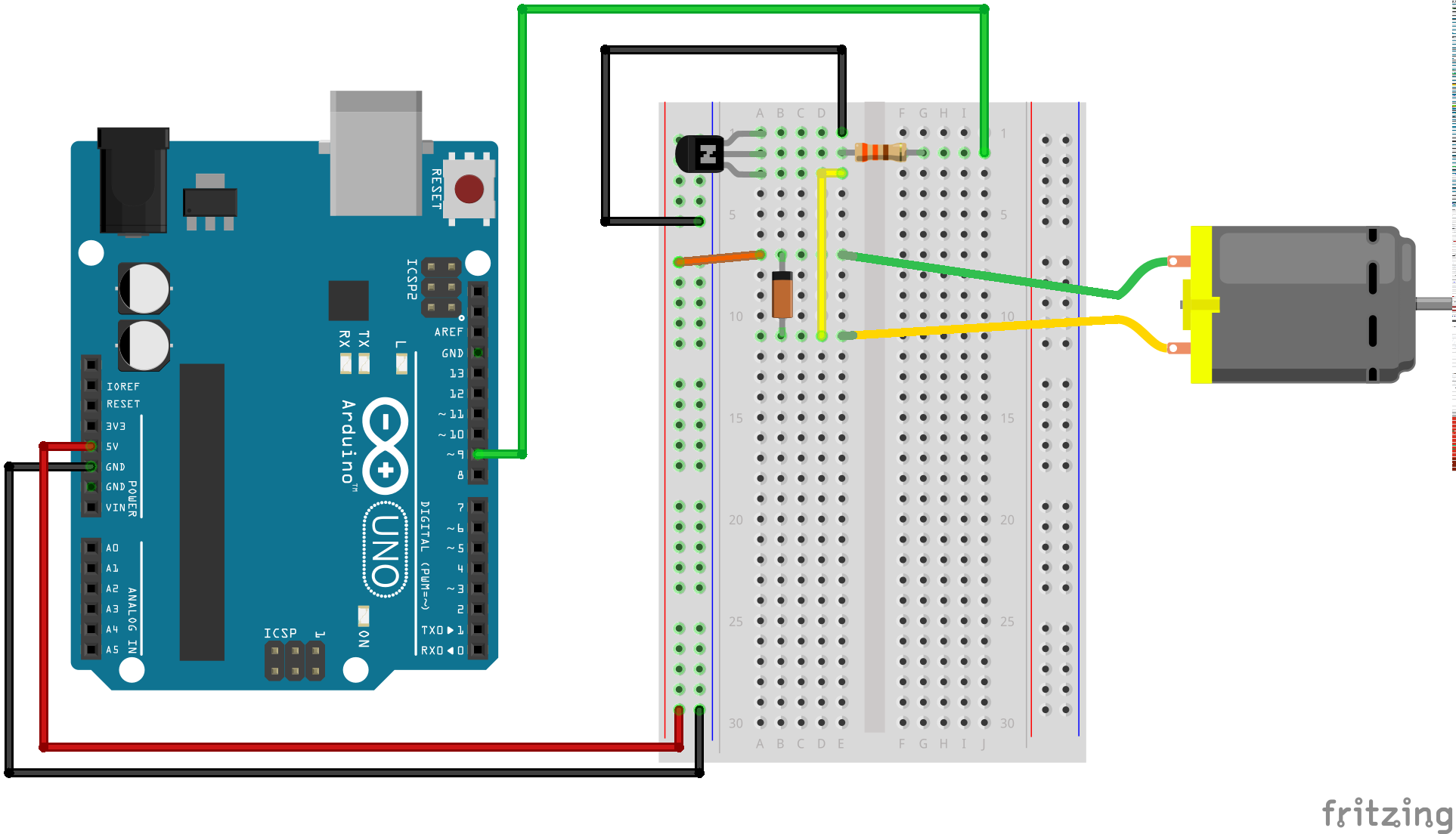 Gear Motor Schematic Arduino - Circuit Connection Diagram •