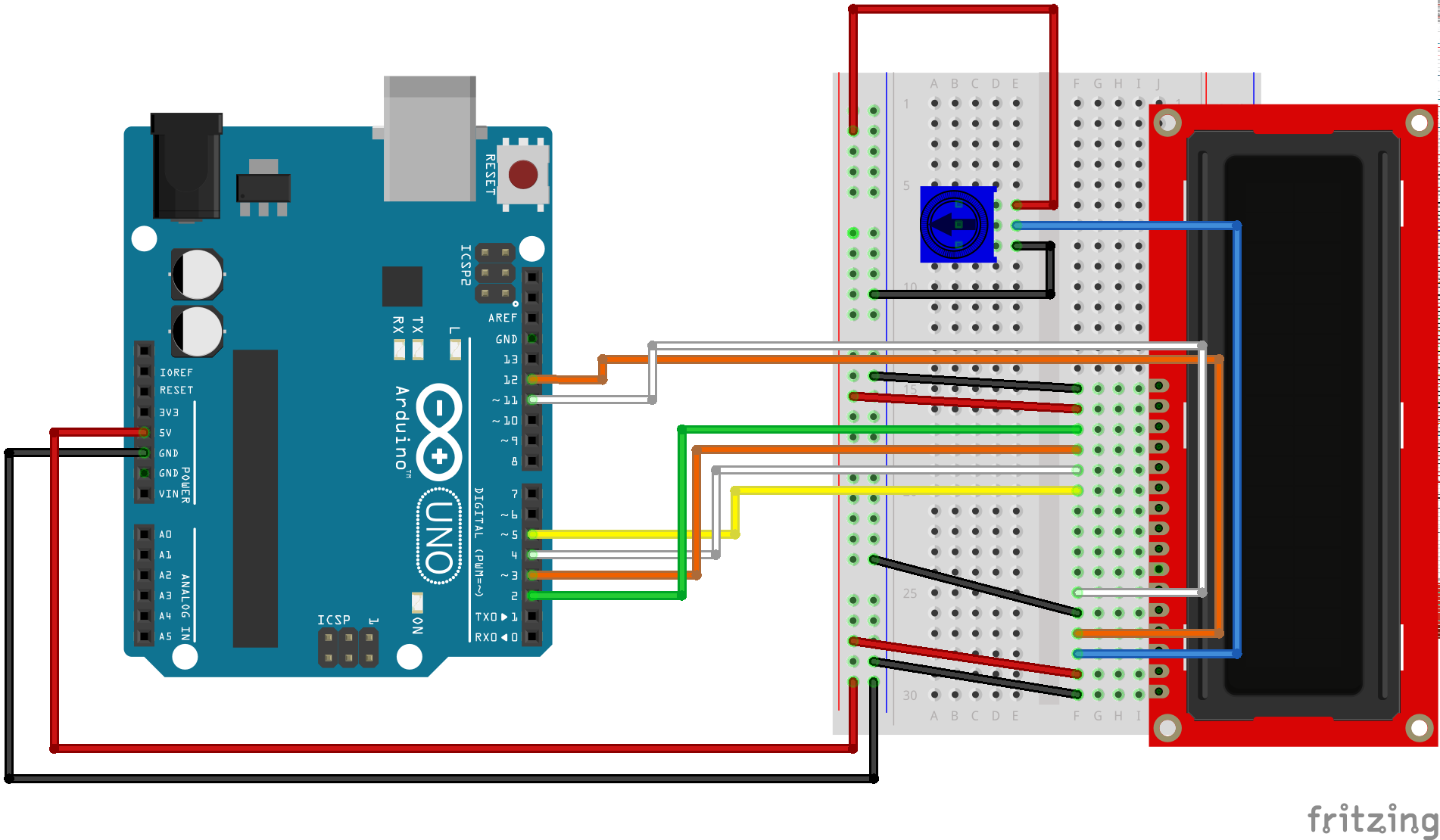 Fritzing Diagram for Arduino. alt text