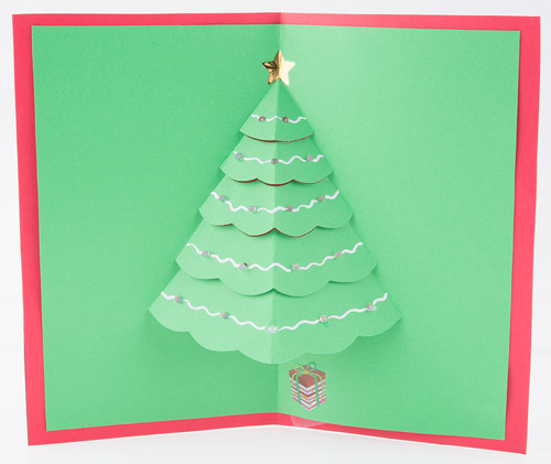 paper engineer and pop up book designer robert sabuda allowed us to adapt some of his free templates for use with electronics - Pop Up Decorated Christmas Tree