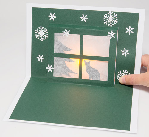 Let It Glow Holiday Cards Learnsparkfuncom - Card template free: photo insert christmas cards