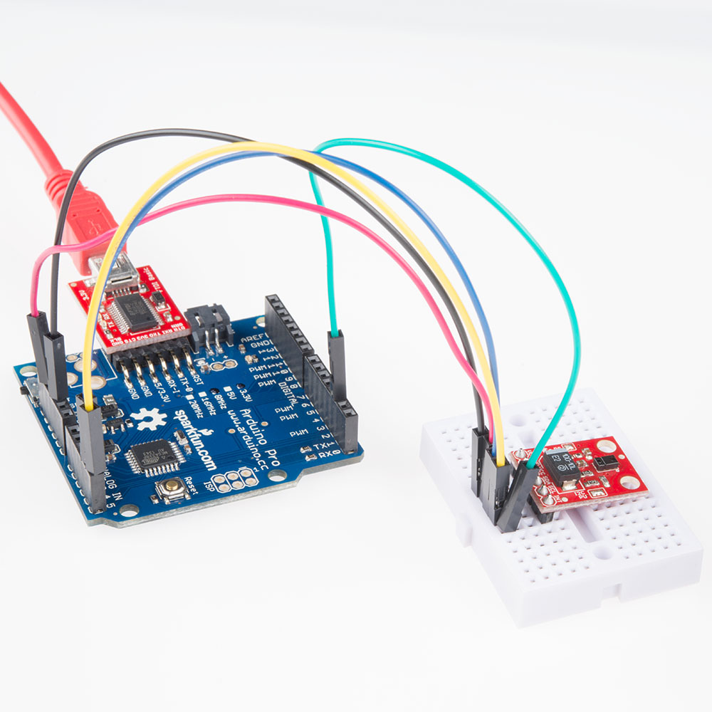 Apds 9960 Rgb And Gesture Sensor Hookup Guide Ftdi Cable Schematic Connect Breakout Board To The Arduino Pro