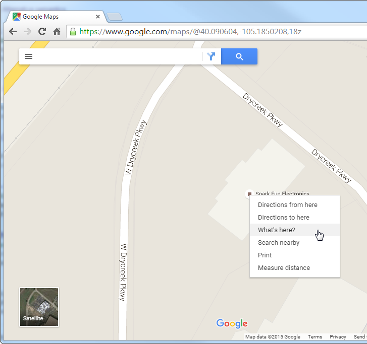 Grabbing the lat and lon from google maps