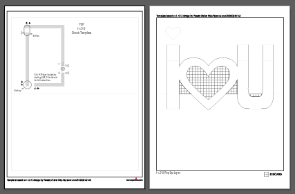 If You Have A Silhouette Electronic Cutter Click Here To Studio File For The Pop Up Layer Pixel Heart Template