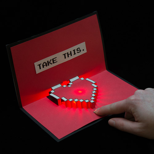 light up valentine cards