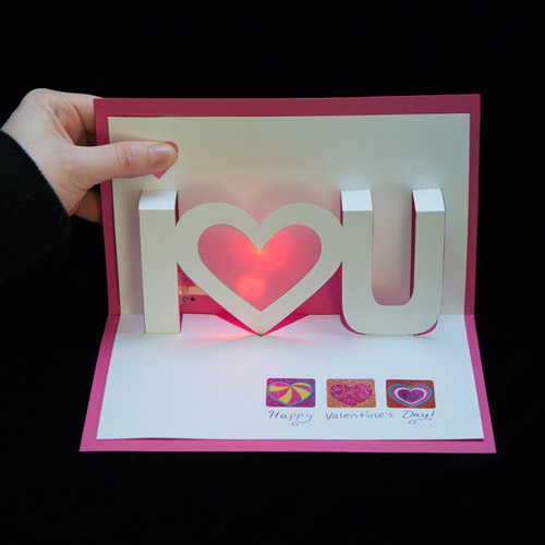 LightUp Valentine Cards learnsparkfun – Pop Up Valentines Day Card