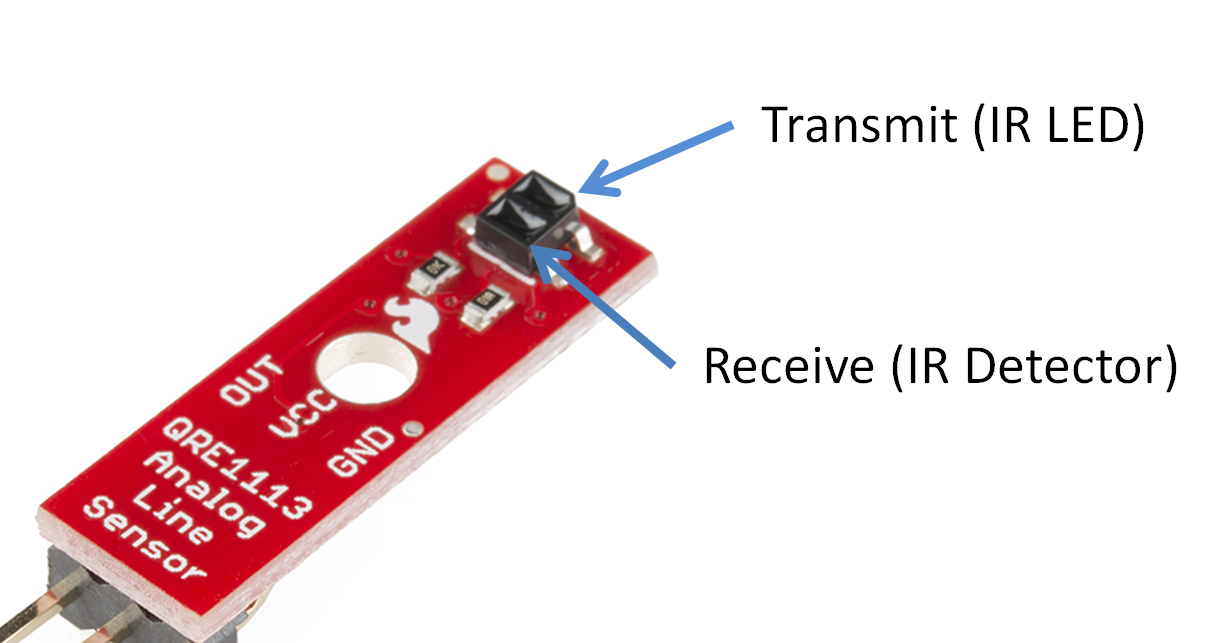 Experiment Guide For Redbot With Shadow Chassis Control Leds On Off Ir Remote And Arduino P Marian Infrared Reflectance Sensor